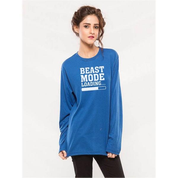 Womens Beast Mode Graphics T shirt