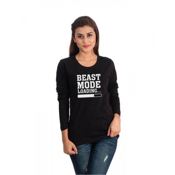 Black Beast Mode T shirt For her