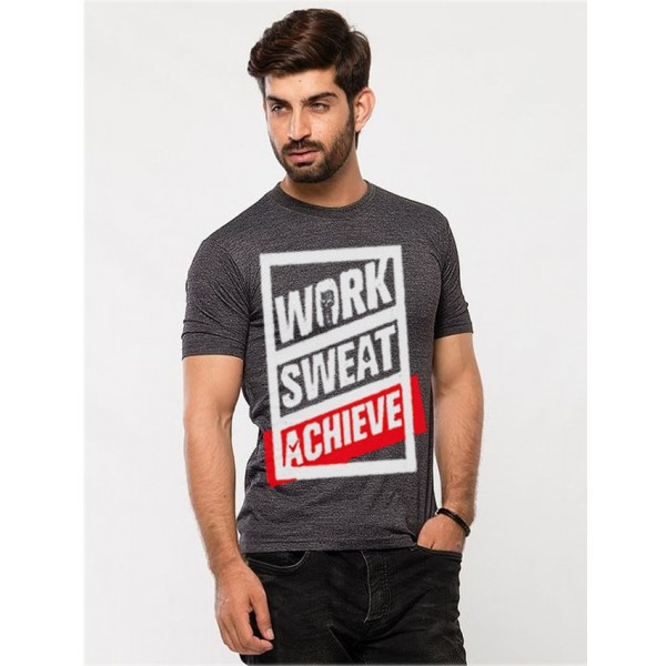 Charcoal Work Sweat Achieve Graphics T shirt for Men