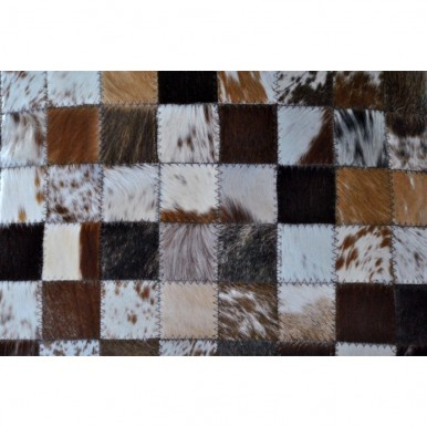 Multi color cowhide hair on cushion cover Pack of 2 cover