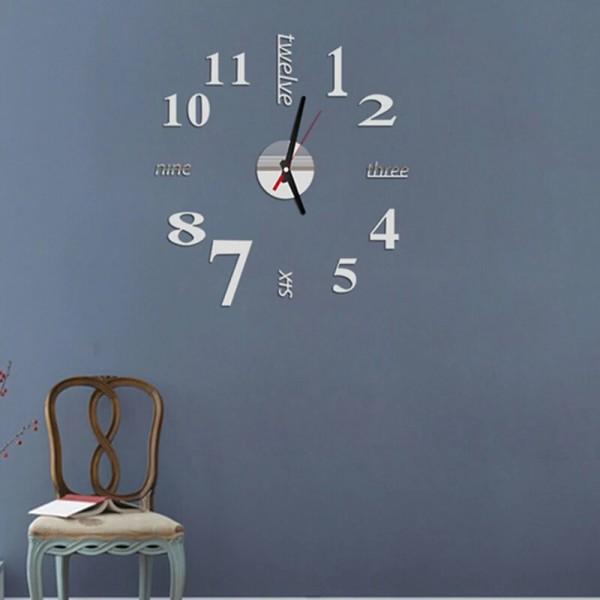 3D DIY Modern EVA Numbers English Alphabets Wall Clock