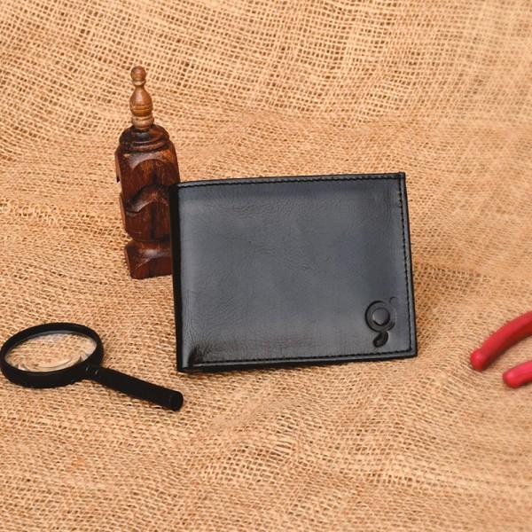 Black With Camel Leather Wallet for Men