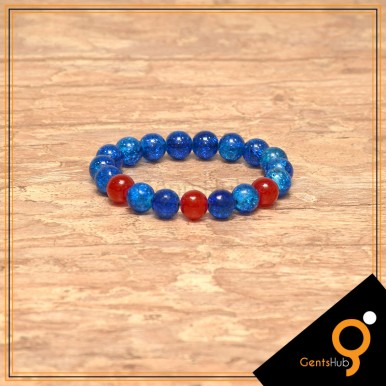 Blue Crystal with Red Beads Bracelets
