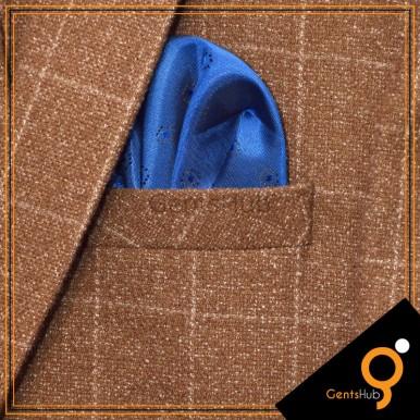 Blue Dot Style Silk Pocket Handkerchief for Men