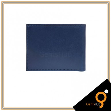 Blue With Camel Leather Wallet for Men
