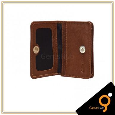 Brown Leather Card Holder For Men