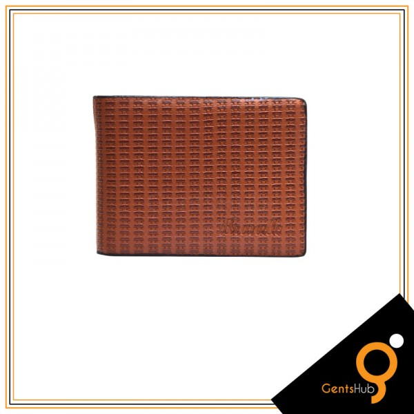 Brown Brunello Lining Texture Wallet for Men