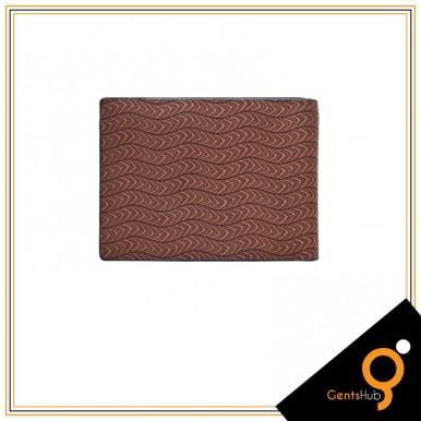 Brown Brunello Waves Texture Wallet for Men