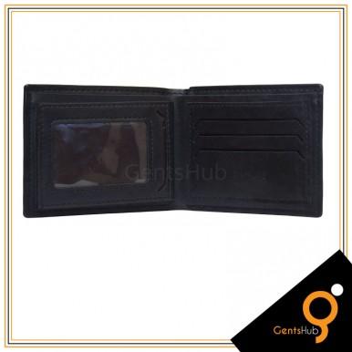 Black Brunello Crocodile Texture Wallet for Men