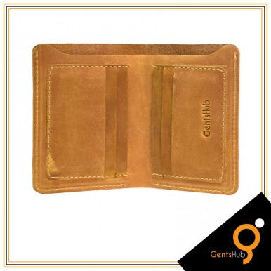 Camel Leather Wallet Book Style For Men