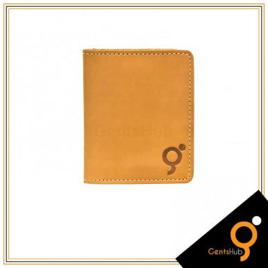 Camel Pull up Leather Card Holder For Men