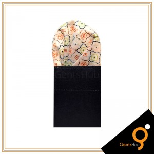 Bleach Skin With Dotted Style Silk Pocket Handkerchief for Men