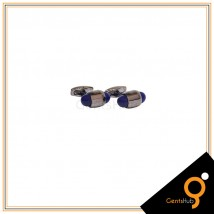 Cufflinks Capsule Style Blackish with Navy Blue Acrylic for Men