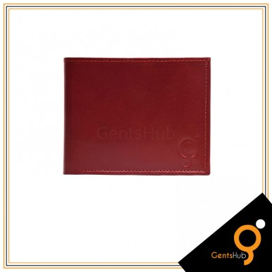 Maroon With Brown Leather Wallet for Men