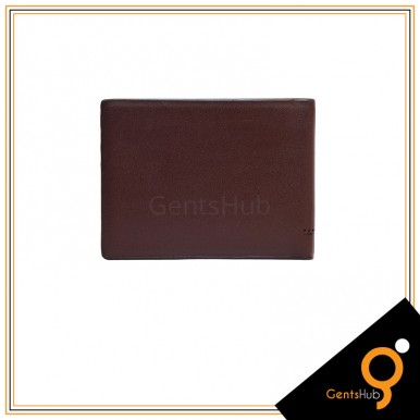 Brown Mont Blanc Front Dotted Style Wallet For Men