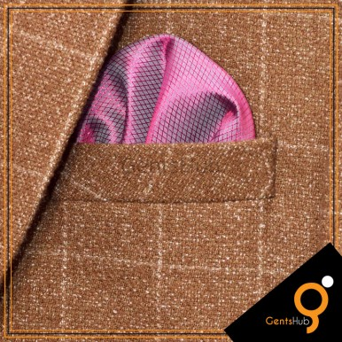 Purple with Pink Shade Pocket Handkerchief for Men