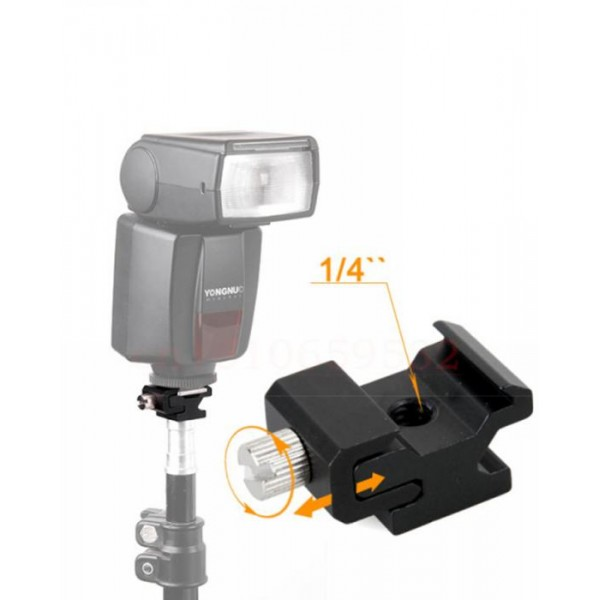 1-4 Screw To Hot Shoe Mount Metal Adapter