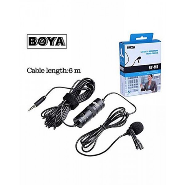 Boya Mic M1 Lavalier Collar Microphone for Canon Nikon DSLR Camcorder and Phone Android Iphone