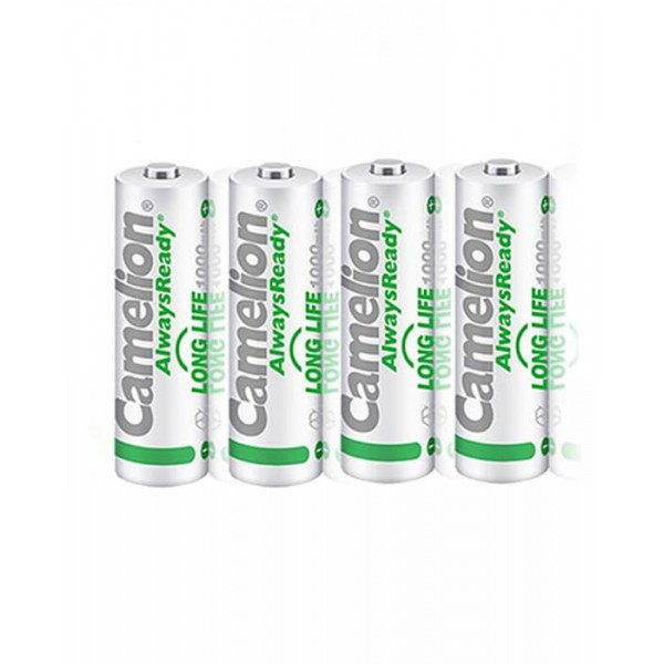 Battery AA Camelion 1000mAh Always Ready Rechargeable 4 Cell Pack