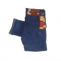 Slim Fit Blue Branded Jeans for Men