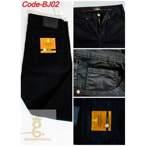 Straight Fitted Black Jeans