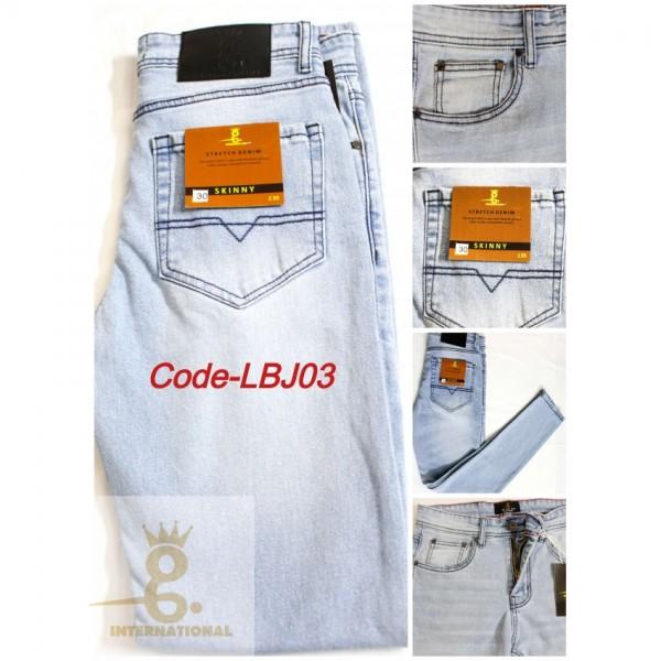 Skinny Bleach Blue Jeans