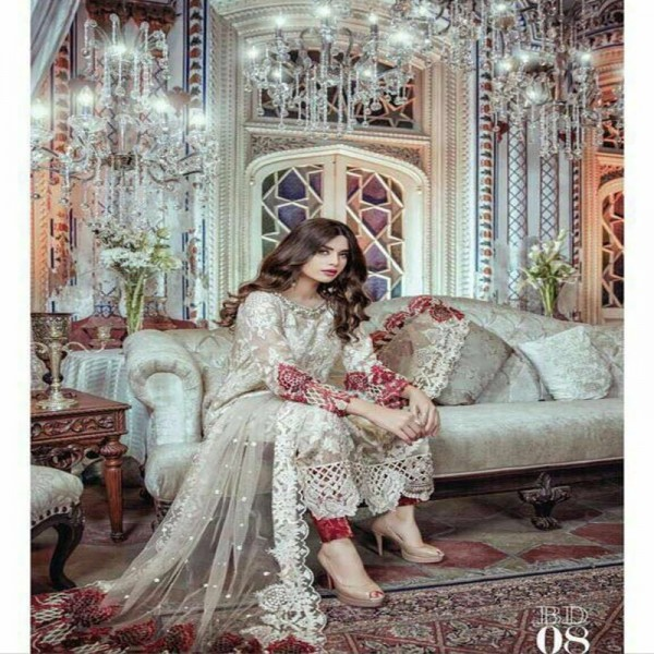 Chiffon Collection Embroidered and Cut Work Dress