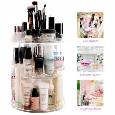 Cosmetics Storage Box Rotative Rack