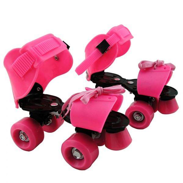 Adjustable Size PVC Wheels Roller Quad Skates