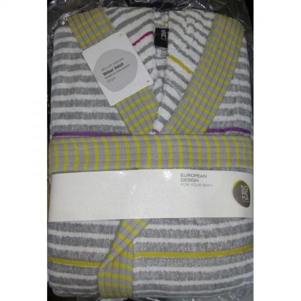 Multi Color Towel Gown - Bath Robe