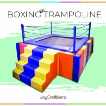 6 x 6 Soft Padded Boxing Trampoline