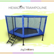 10 x 10 ft Hexagon Trampoline for Kids and Adults