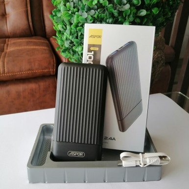 Aspor A323 Power bank 10000mAh With Fast Charging and Elegant Design
