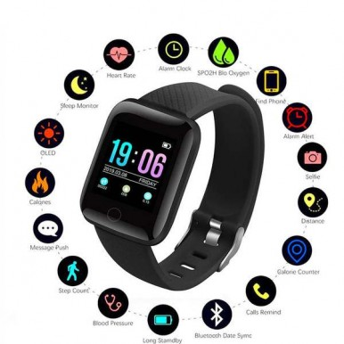 D13 Smart Watch With Elegant Design Touch Display and Sporty look for Android