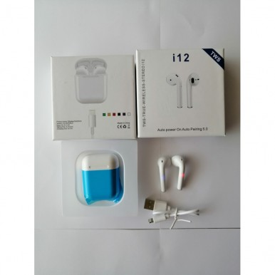 i12 TWS Airpods Elegant Design With Touch Sensor & Auto Power On Truly Wireless 5.0
