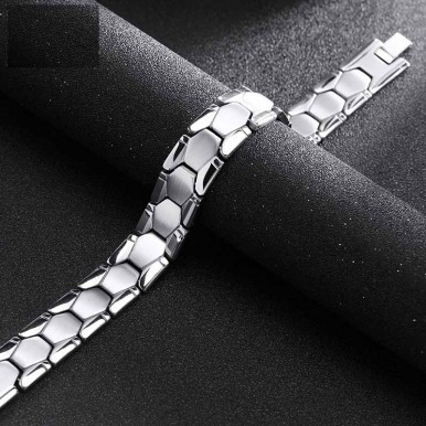 Stainless Steel Silver Bracelet In Gift Box