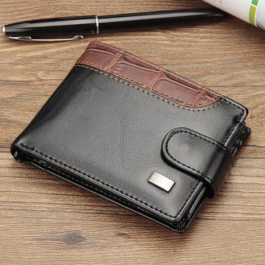 Black New Style Wallet For Men