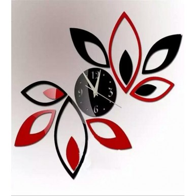 Red And Black Clock Sticker