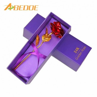 24K SPECIAL Gold Plated Rose RED Gift For Special Ones