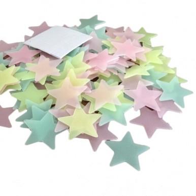 4 cm BIG 150pcs Glow In The Dark Stars Stickers