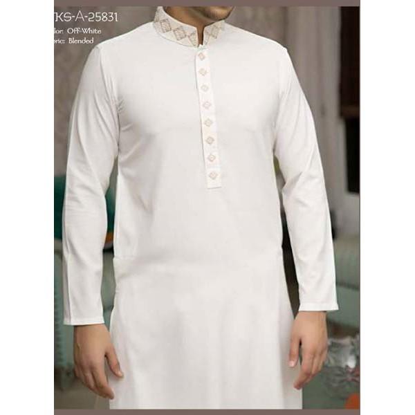 Glamour Fabrics Off White Summer Wash n Wear Unstitched Wedding Gift