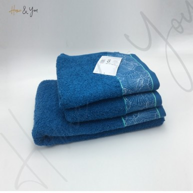 Home N You 3-Piece Fade-Resistant Bath Towel Set - Navy Blue