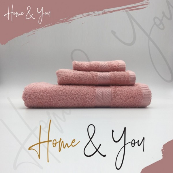 Home N You 3-Piece Fade-Resistant Bath Towel Set -Pink