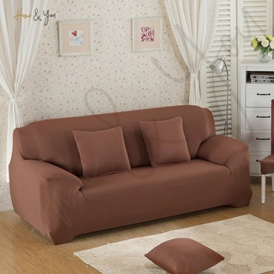 7 Seater Sofa Cover With Easy-Going Fleece Stretch Material - Slipcover - Soft Couch - Set of (3-2-1-1)