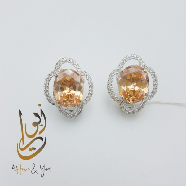 HOME N YOU PRESENT ZEWRAAT SLEEK JEWELLERY DESIGNES FOR WOMEN -  EAR RINGS - SILVER JEWELRY - 928