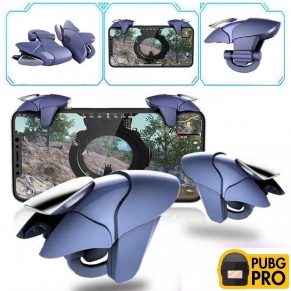 Blue Shark Mobile Pubg Cellphone Game Trigger-Sensitive Shoot and Aim Buttons Shooter