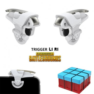 New Pair of PUBG / Fortnite Mobile Gaming Metal Trigger L1 R1 Button Game Shooter Controller - King 2