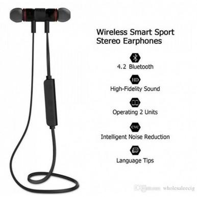 M5 Magnetic Wireless Neckband in Earphones  True Stereo