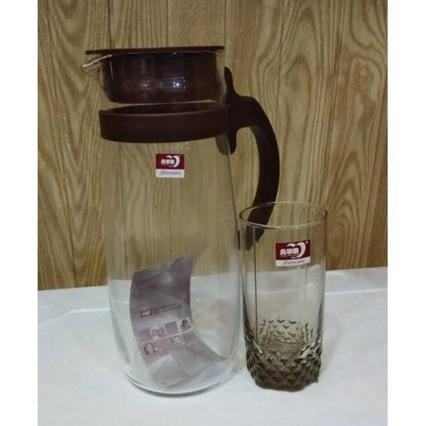 Water Set - 1 jug and 6 glasses