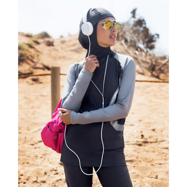 Monochrome Active Burkini - Islamic Swim Suit for Her
